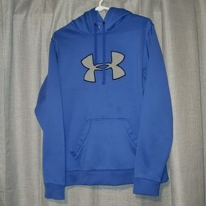 Blue and grey under armour hoodie